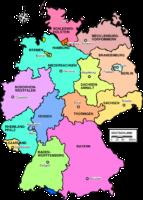 Regionale Krimis - Landkarte von Deutschland